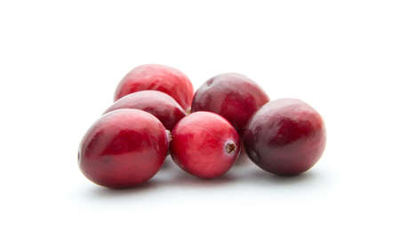ripe cranberries isolated on white Stock Photo