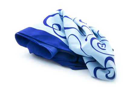 blue scarf isolated on white background