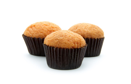 muffins isolated on white background Stock Photo
