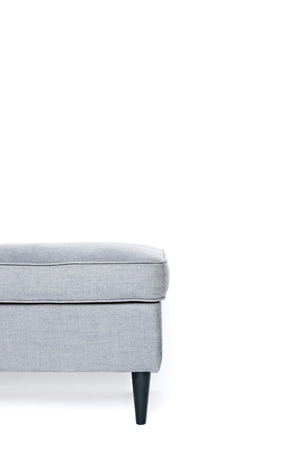 footrest: grey footrest isolated on white background, copy space Stock Photo