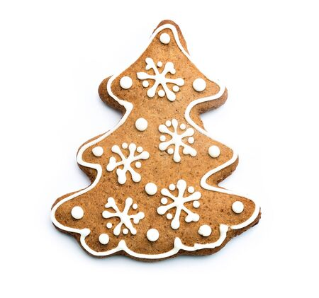 gingerbread cookie: gingerbread cookie isolated on white background Stock Photo