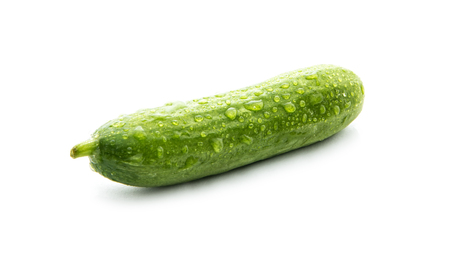 fresh green cucumber isolated on white background Stock Photo