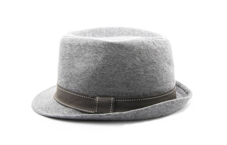 gray hat isolated on white background