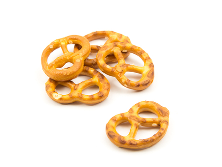 pretzels isolated on white background