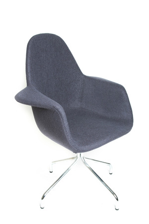 Gray swivel armchair isolated on white background