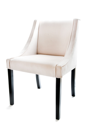 Ecru chair isolated on white background