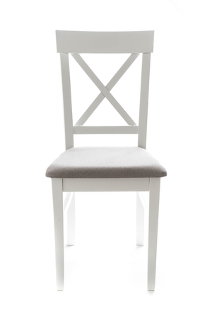 White wooden chair isolated on white background