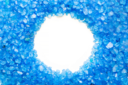 Crystals of blue sea salt with minerals