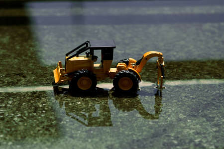 A fork lake under construction in a submerged city. Stock Photo