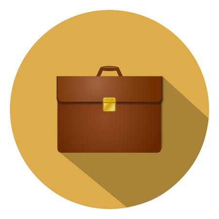 suitcase: business suitcase icon Illustration