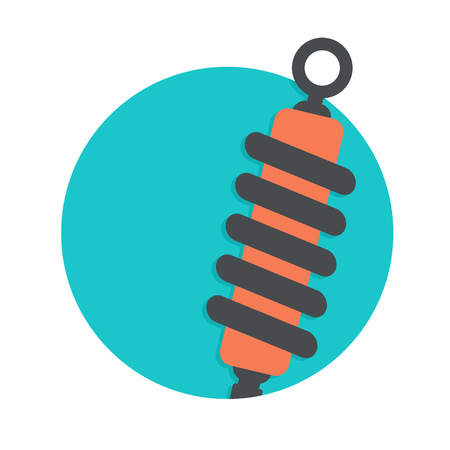 shock absorber: illustration of shock absorber icon isolated on white