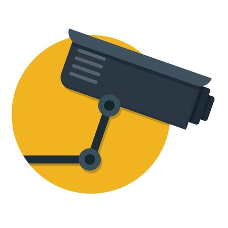 illustration of CCTV Video Surveillance Camera icon