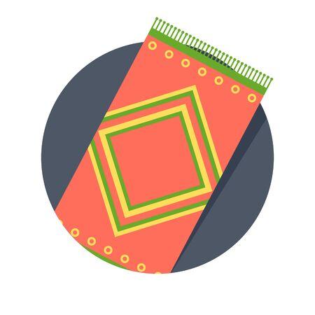 illustratie van tapijt pictogram op wit wordt geïsoleerd Vector Illustratie