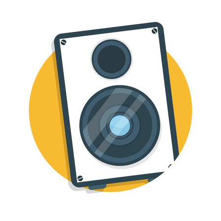 loud   speakers: illustration of speaker icon isolated on white