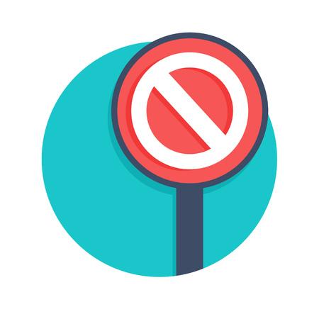 illustratie van stopbord icoon op een witte Vector Illustratie