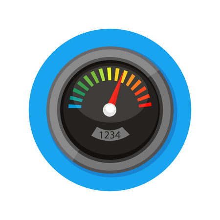 rating meter: illustration of meter icon isolated on white Illustration