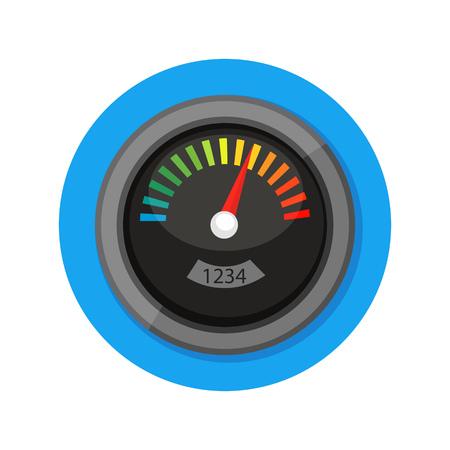 rating gauge: illustration of meter icon isolated on white Illustration