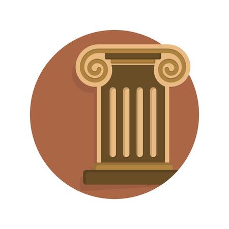 roman column: illustration of roman column icon isolated on white