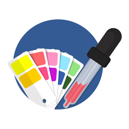 picker: illustration of color picker icon isolated on white