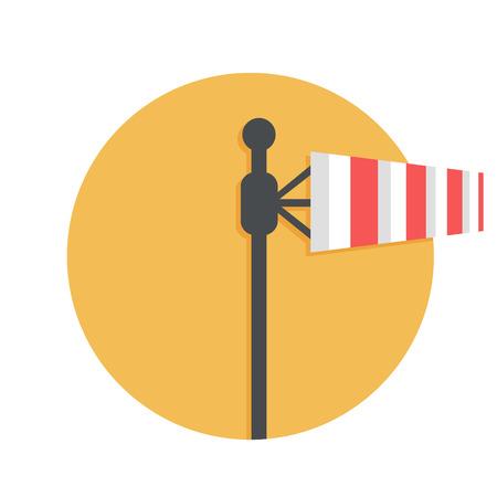 windsock: illustration of Windsock icon isolated on white Illustration