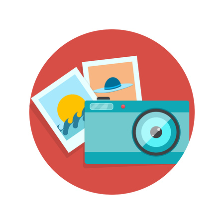 human photography: illustration of photography icon isolated on white