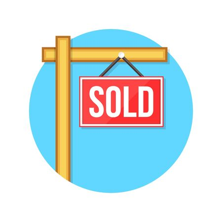 sold sign: illustration of sold sign isolated on white