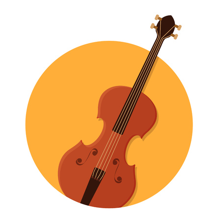 violin background: illustration of violin icon isolated on white