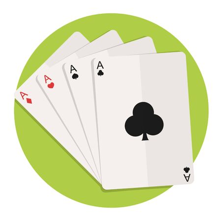 cards poker: illustration of cards icon isolated on white