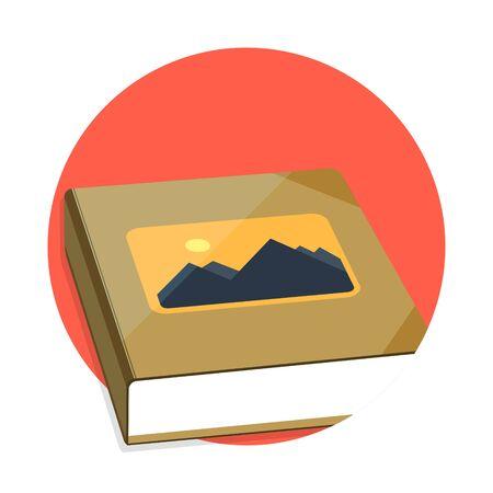 photoalbum: illustration of photo album icon isolated on white Illustration