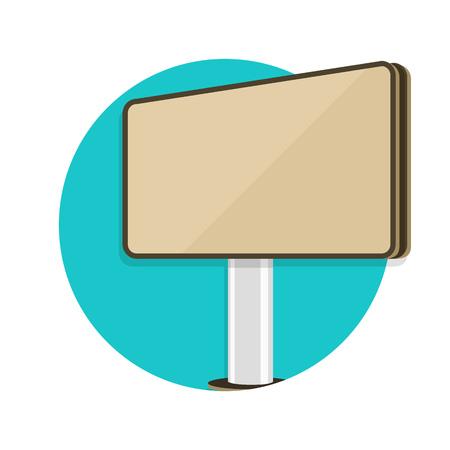 outdoor blank billboard: illustration of billboard icon isolated on white Illustration