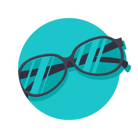 sun glasses: illustration of Sun glasses isolated on white