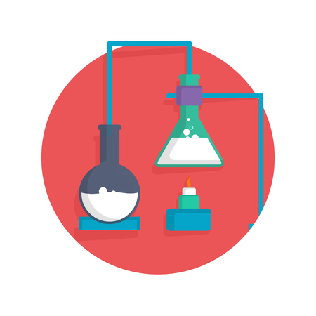 chemistry lab: illustration of chemistry icon isolated on white Illustration