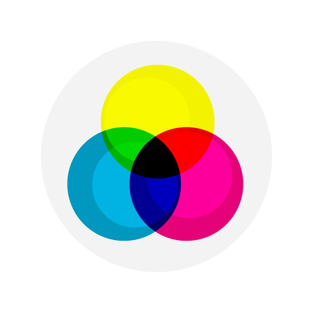 color mixing: flat Vector icon - illustration of RGB colors icon isolated on white
