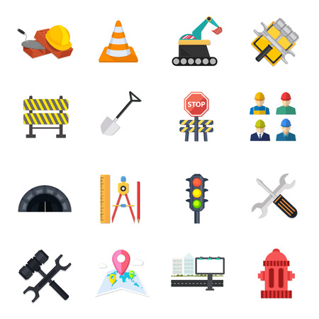 road Icons set