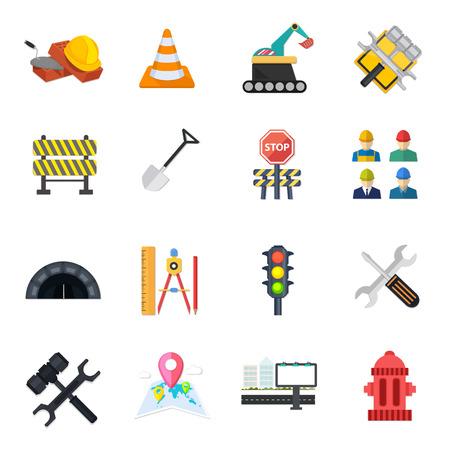 computer repairing: road Icons set