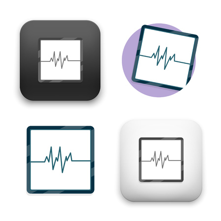 Electric wave icons - flat vector illustration on white background.