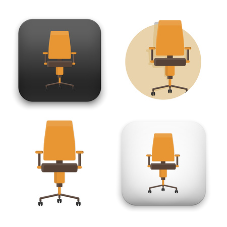 Flat Vector icon - illustration of office chair icon.