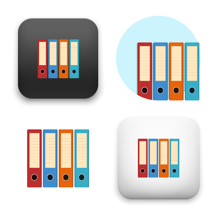 Flat Vector icon - illustration of files icon.