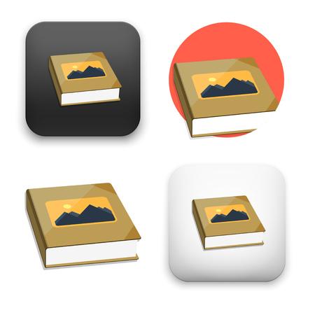 Flat Vector icon - illustration of photo album icon.