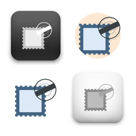 Flat Vector icon - illustration of Stamp icon.