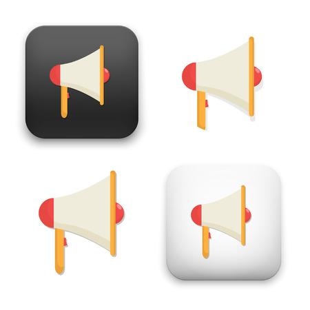 Flat Vector icon - illustration of megaphone icon. Illustration