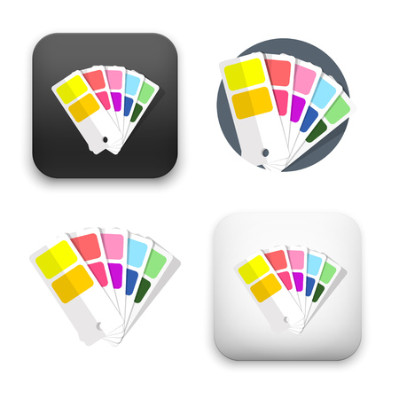 Color guide icons - flat vector illustration isolated on  background.