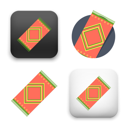 carpet icons - flat vector illustration isolated on  background.