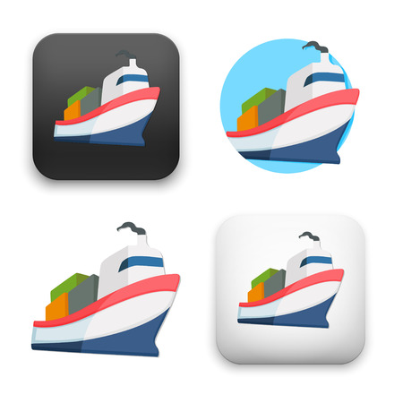 Flat Vector icon - illustration of shipping icon.