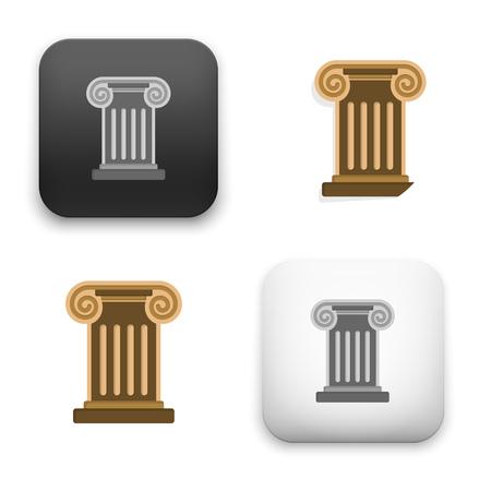 Flat Vector icon - illustration of roman column icon.