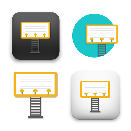 A flat Vector icon  illustration of billboard icon