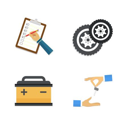Car service Icons Illustration