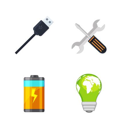 Green energy Icons Illustration