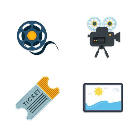 cinema Icons Illustration