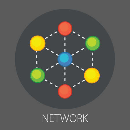 Vector illustration of people social network and Global networking with
